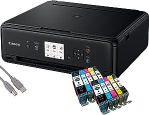 Canon Pixma TS5050 Tintenstrahl-Multifunktionsgerät (Drucken, Scannen, Kopieren, WLAN, Print App) + USB Kabel & 10 Youprint Tintenpatronen (Originalpatronen ausdrücklich nicht im Lieferumfang)