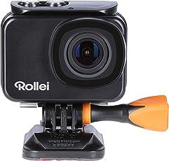 Rollei Actioncam 550 Touch - Wifi Action Cam mit Touchdisplay und 4k Video Auflösung, bis 40 m Wasserfest, inkl. Unterwasserschutzgehäuse und Fernbedienung
