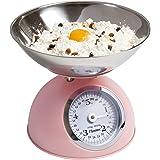 Bestron Balance de cuisine analogique avec plateau de pesée amovible, Design rétro, Sweet Dreams, Capacité de charge : 5 kg,