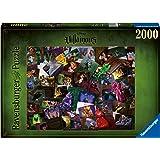 Ravensburger- Puzzle 2000 pièces-Les Méchants (Collection Disney Villainous) Adulte, 4005556165063, pezzi