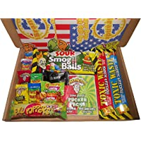 Super Sour Sweet Gift Box Hamper American Candy. For Children or Adults as Birthday Christmas Easter Gift. Extreme Sour…