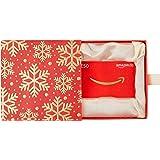 Amazon.de Geschenkkarte in Geschenkbox (Premium Rot und Gold) - mit kostenloser Lieferung per Post