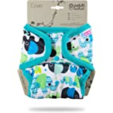 Petit Lulu Cloth Nappy Wrap | One Size | Snaps | Washable Diaper Wrap | Cloth Nappies | Made in Europe (Baby Elephants…