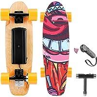 WOOKRAYS Skateboard Elettrico con Telecomando, Motore da 350W, velocità Massima 20 KM/H, Regolazione a 3 velocità…