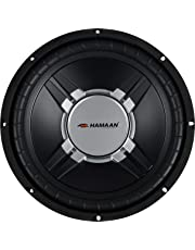 Hamaan HMWF-2700 12-inch 2400 W Dual Voice Coil Subwoofer (Black)