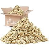 grillas bio-haard aanmaakblokjes 10 kg van houtvezel, gedrenkt in was | kolenstarter | barbecue aanmaakblokjes | was aanmaakb