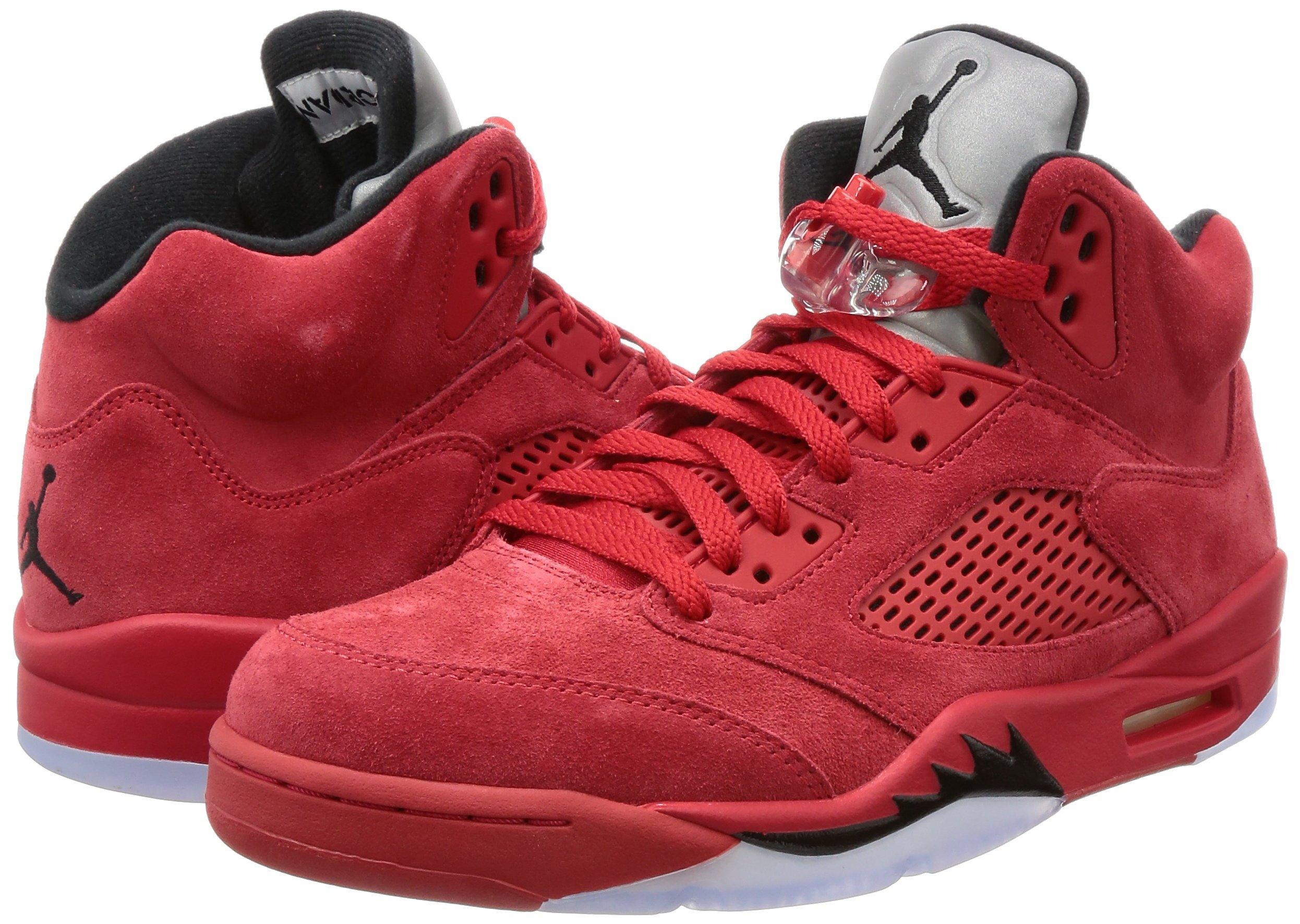 91Ih5TsL95L - Nike Air Jordan 5 Retro 'Red Suede' - 136027-602 - Size 9 -
