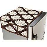 Amazon Brand - Solimo Polyester Fridge Top Cover, Brown