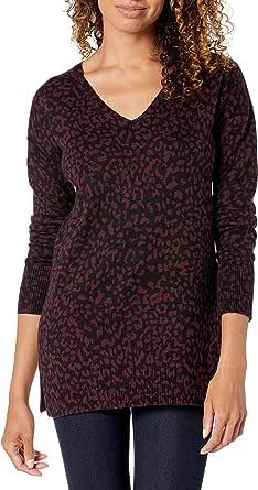 Amazon Essentials Lightweight V-Neck Tunic Sweater Cardigan Donna