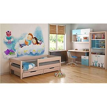 Kinderbett CLASSIC Farbe: Erle, 160x80cm mit Matratze