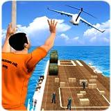 Mission de sauvetage de la vie de prisonnier dans la chasse aux flics Jeux de gangsters de crime: la survie d'évasion de prison dans l'avion simulateur 3D gratuit