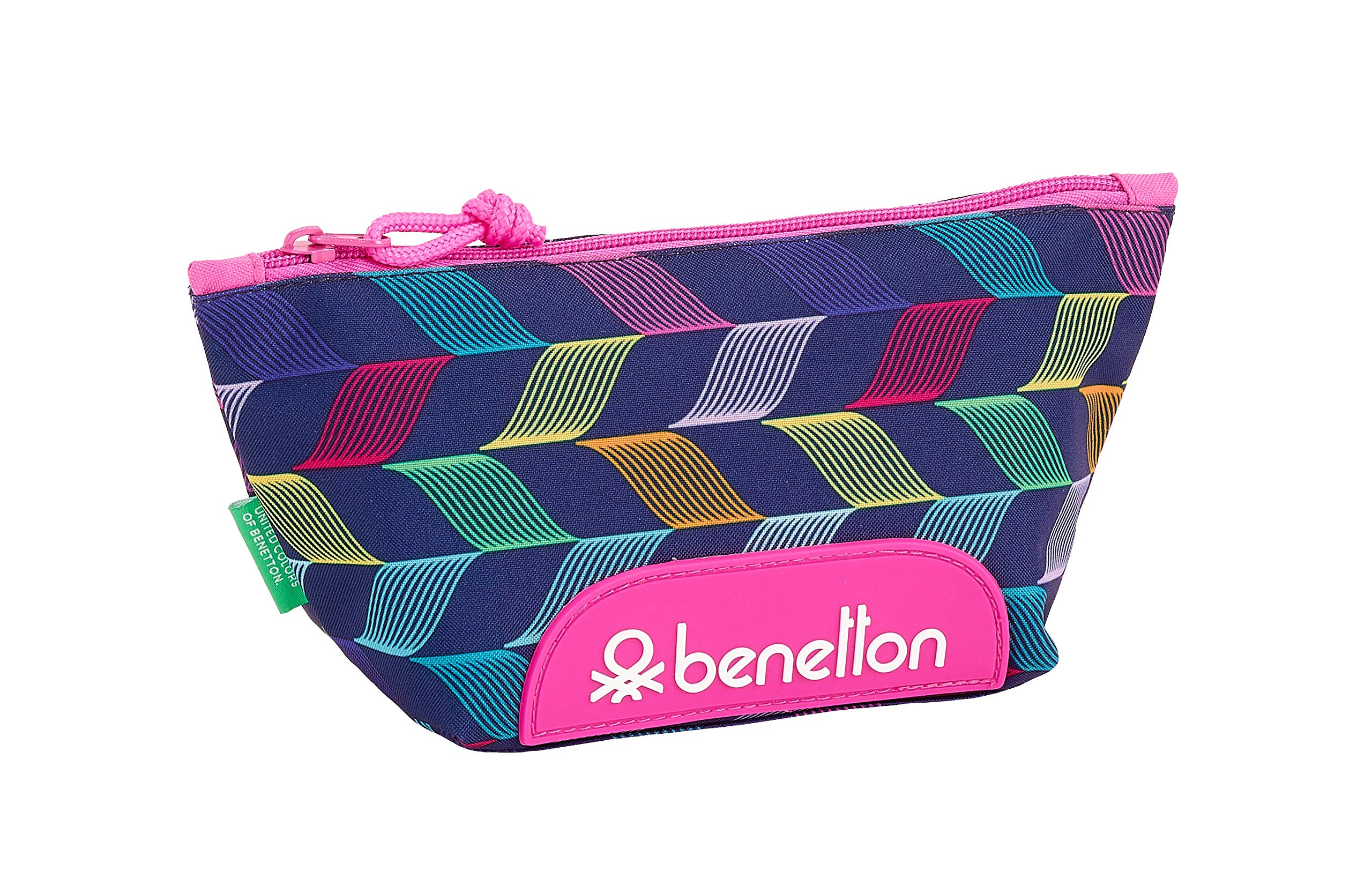 Benetton «Ondas» Oficial Mochila Escolar Infantil Porta Maquillaje 230x80x120mm