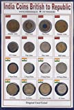 Coins & Stamps British India and Old Indian Coins from 1920 to 1970 - Pack of 16