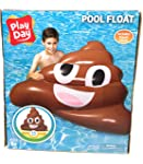 Play Day Pool Float Poop Emoji 4 ft Wide Includes Repair Patch 9 Ages