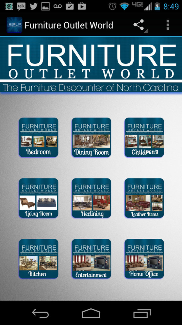 Furniture Outlet World Appstore For Android