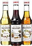 Monin Coffret Chaud Noisette/Caramel/Chocolat Cookie 3 x 25 cl