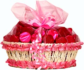 Skylofts Pink Fancy Chocolate Basket - 240 Grams