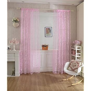 Voilage rideau en voile paravent motif de papillon de flocage pour porte fen tre balcon 200cm x for Voilage pour porte fenetre
