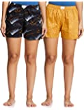 Diverse Women's Regular Fit Cotton Shorts (Pack of 2)