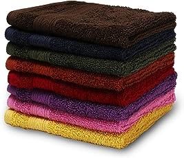 Urban Hues Rich Cotton 6 Pcs 500 GSM Rectangular 12x12 inch Face Towel Set