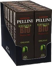 Pellini Bio Arabica 100% (12 astucci da 10 capsule - totale 120 capsule), compatibili Nespresso