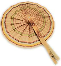 HANDMADE WOVEN BAMBOO HAND FAN | 2 PC SET