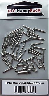 Fixman 851554 Steel Masonry Nails 100 Pack 50mm x 3.5mm