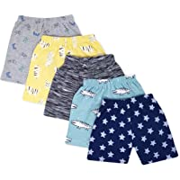 The Boo Boo Club Baby's Regular Shorts (Mix Print, Pack of 5)