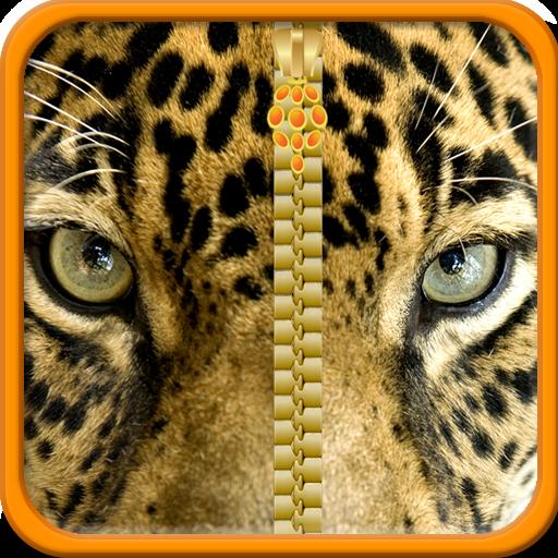 Leopard-Reißverschluss-Lock Screen (Reißverschluss Natürliche)