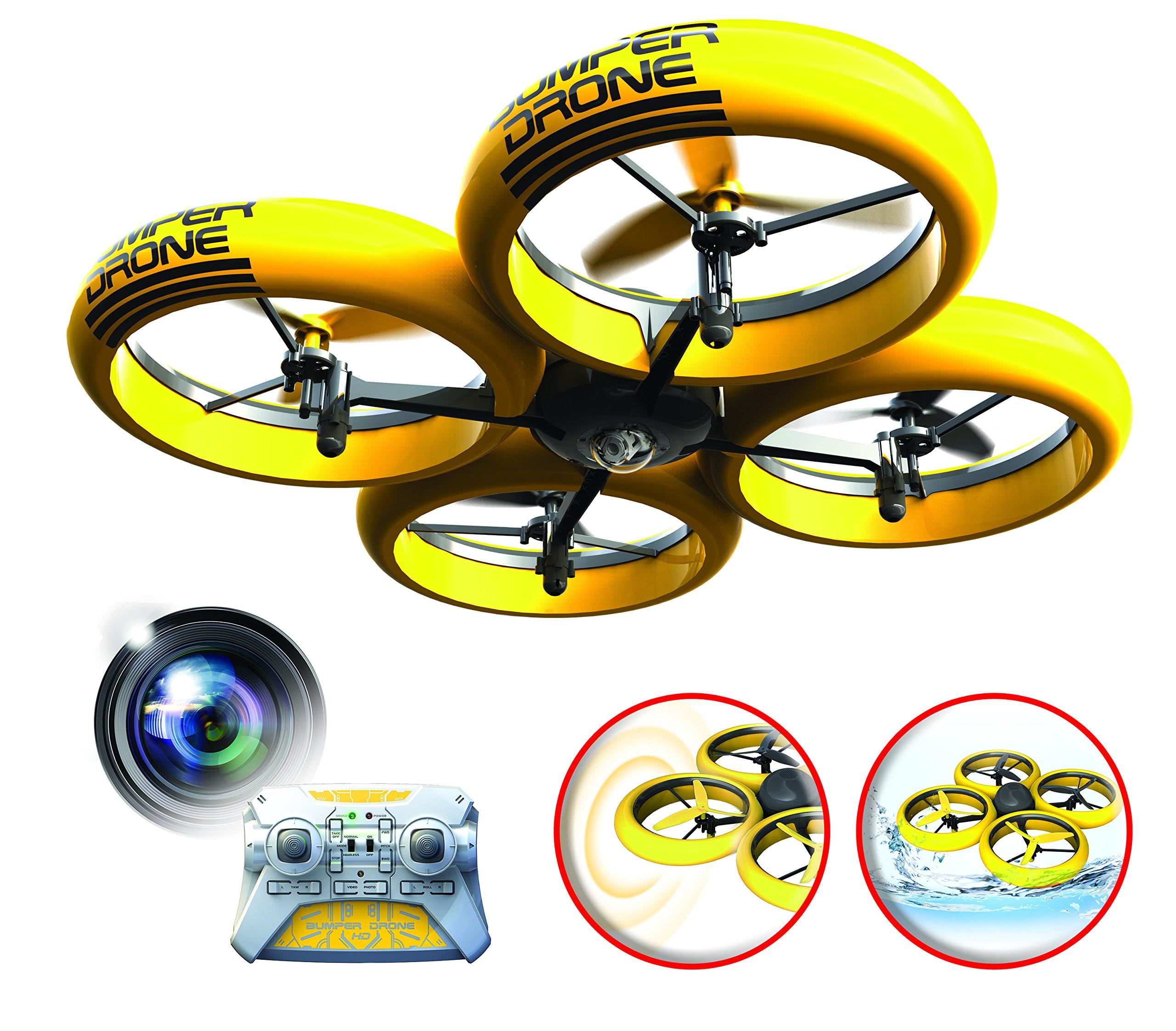 SilverLit-Bumper-Drone-Incassable-avec-camra-HD-Couleur-Jaune