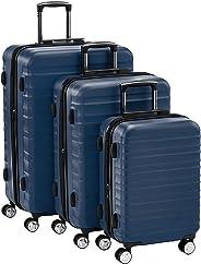 Hochwertiger Hartschalen-Trolley mit eingebautem TSA-Schloss und Laufrollen 3-Teiliges Set (55 cm, 68 cm, 78 cm), Marineblau
