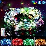 Guirnalda Luces GolWof 10M 100 LED Cadena de Luces Impermeable Luces Navidad USB y Luces de Hadas con 12 Modos, Teledirigido,