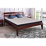 Springtek Dreamer Pure Sheesham (Queen Size) Solid Wooden Platform Bed, Mahogany Color - 78x60 Inches