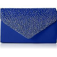 SwankySwans - Abby Diamante Envelope Style Bag, Sacchetto Donna