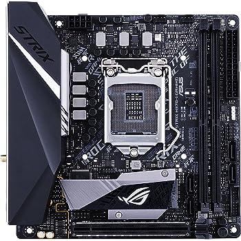 Asus ROG STRIX H370-I GAMING Scheda Madre, Chipset Intel H370, Supporto Processori Intel 8 Generazione, LGA1151, Mini ITX, Nero