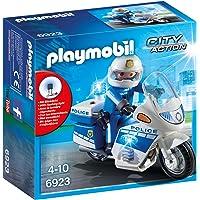 Playmobil - Moto de Policier avec Gyrophare - 6923