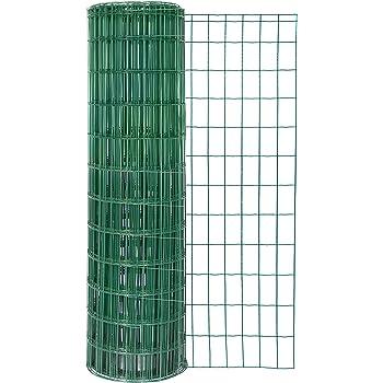 Zaungeflecht, grün, 650 mm Höhe, 25 m Rolle, Drahtstärke: 2,4 / 3,0 ...