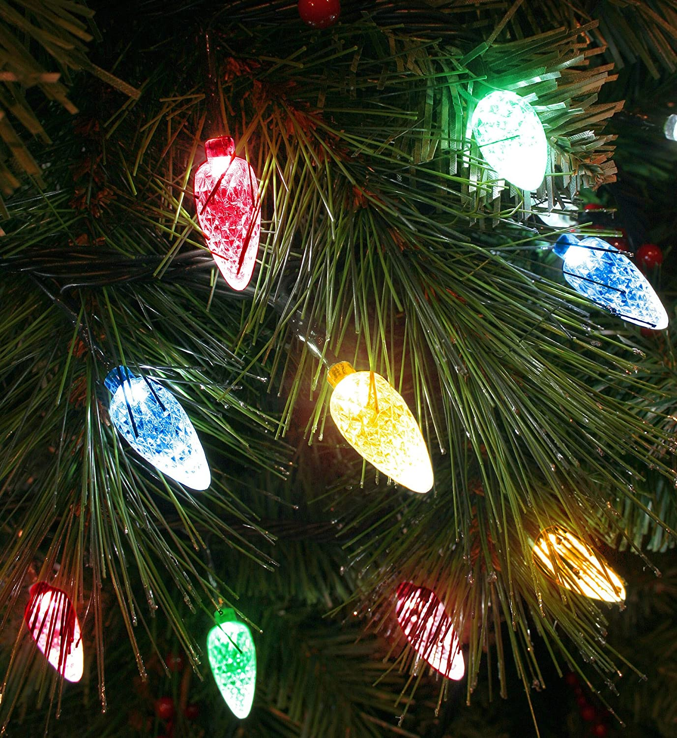 100x White LED Faceted Cone Light Set   Indoor/Outdoor Multifunction  Christmas Tree Lights   8264GW: Amazon.co.uk: Lighting