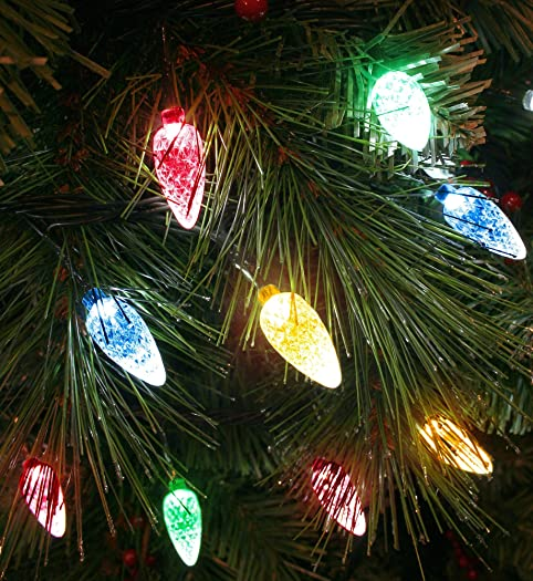 100x Multicoloured LED Faceted Cone Light Set - Indoor/Outdoor Christmas  Tree lights - 8264GM: Amazon.co.uk: Lighting
