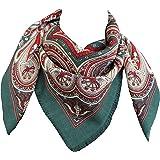 tessago foulard dis 27420 lana 100% variante verde misura cm 80 X 80