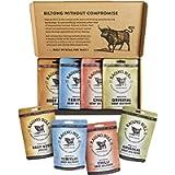 Raging Bull Biltong Taster Pack - 2x35g Packs of Original, Chilli , Teriyaki and 2x50g of Original Droewors Sticks…
