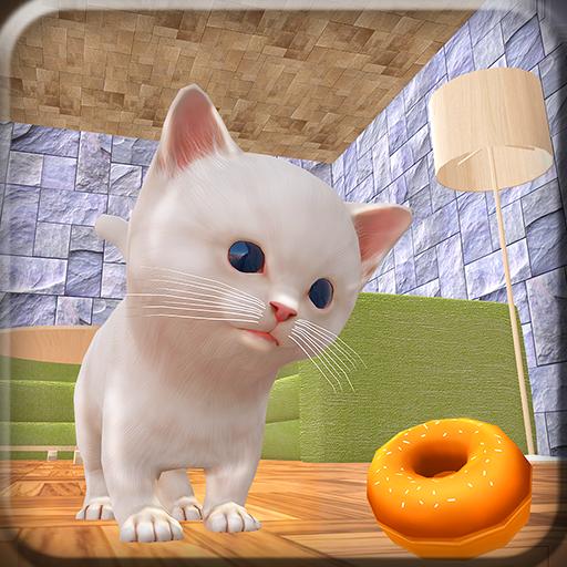 Kätzchen-Haus-Abenteuer-Handwerks-Simulator 3D: Verrückte Miezekatze-Katzen-Entwicklungs-Spiele geben für Kinder 2018 frei