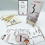 Carte Etape Bebe Par Semaine, Mois, 1 An + Chevalet OFFERT |Cadeau Original Grossesse & Naissance : Fille & Garcon | Idée Or