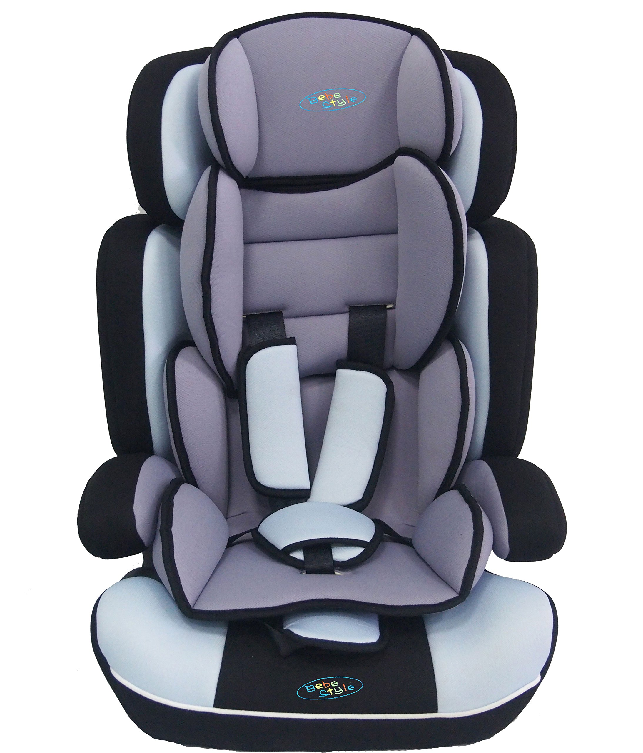Bebe Style Convertiblle 1/2/3 Combination Car Seat and Booster Seat - Blue  From 9 months to 12 years old, one size fits all (9-36kg) Converts to booster seat.  Very Thick Padding Adjustable height of headrest and shoulder straps for the growing needs of the child 2