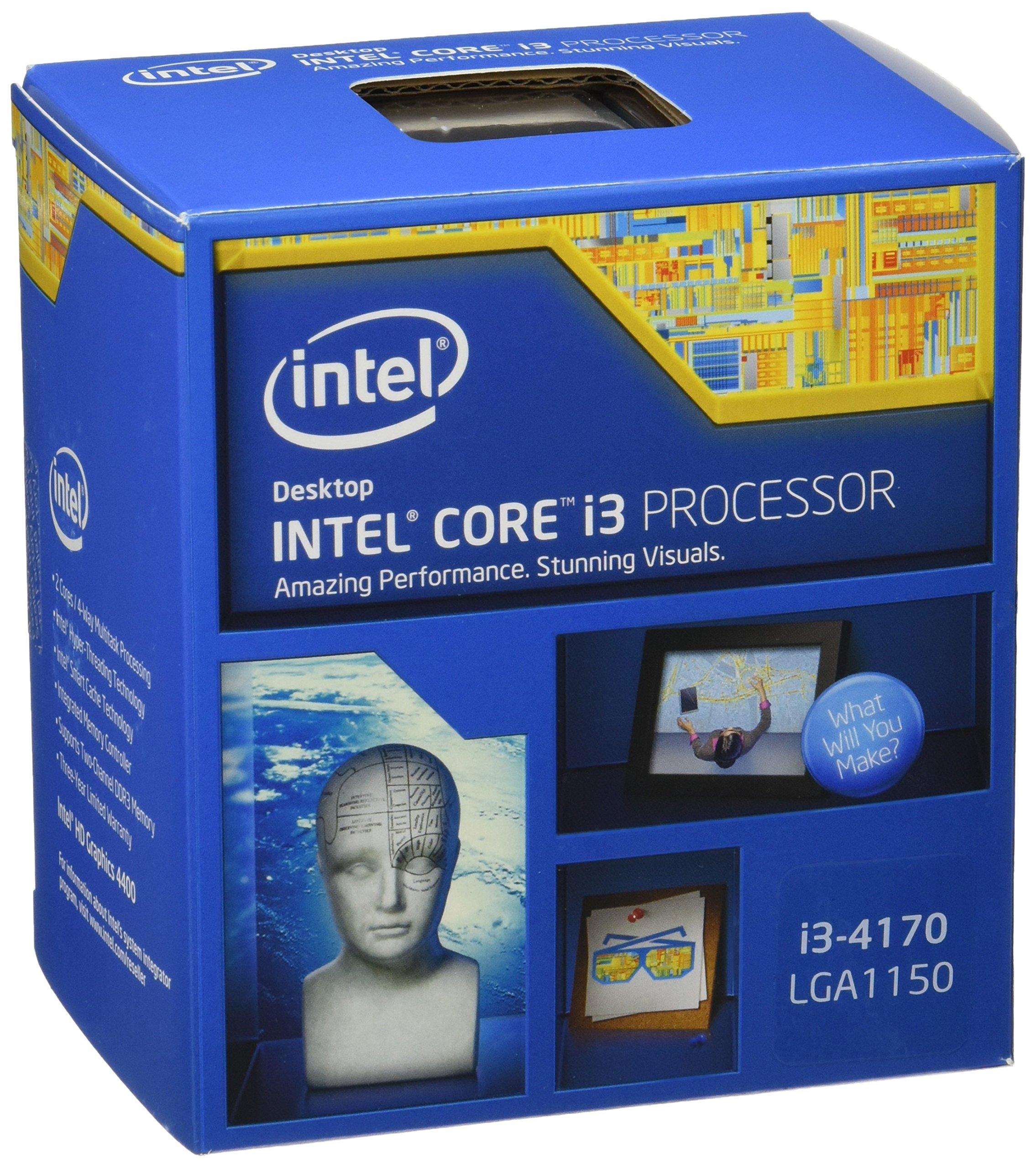 Intel Box i3-4170 Processore, Grigio