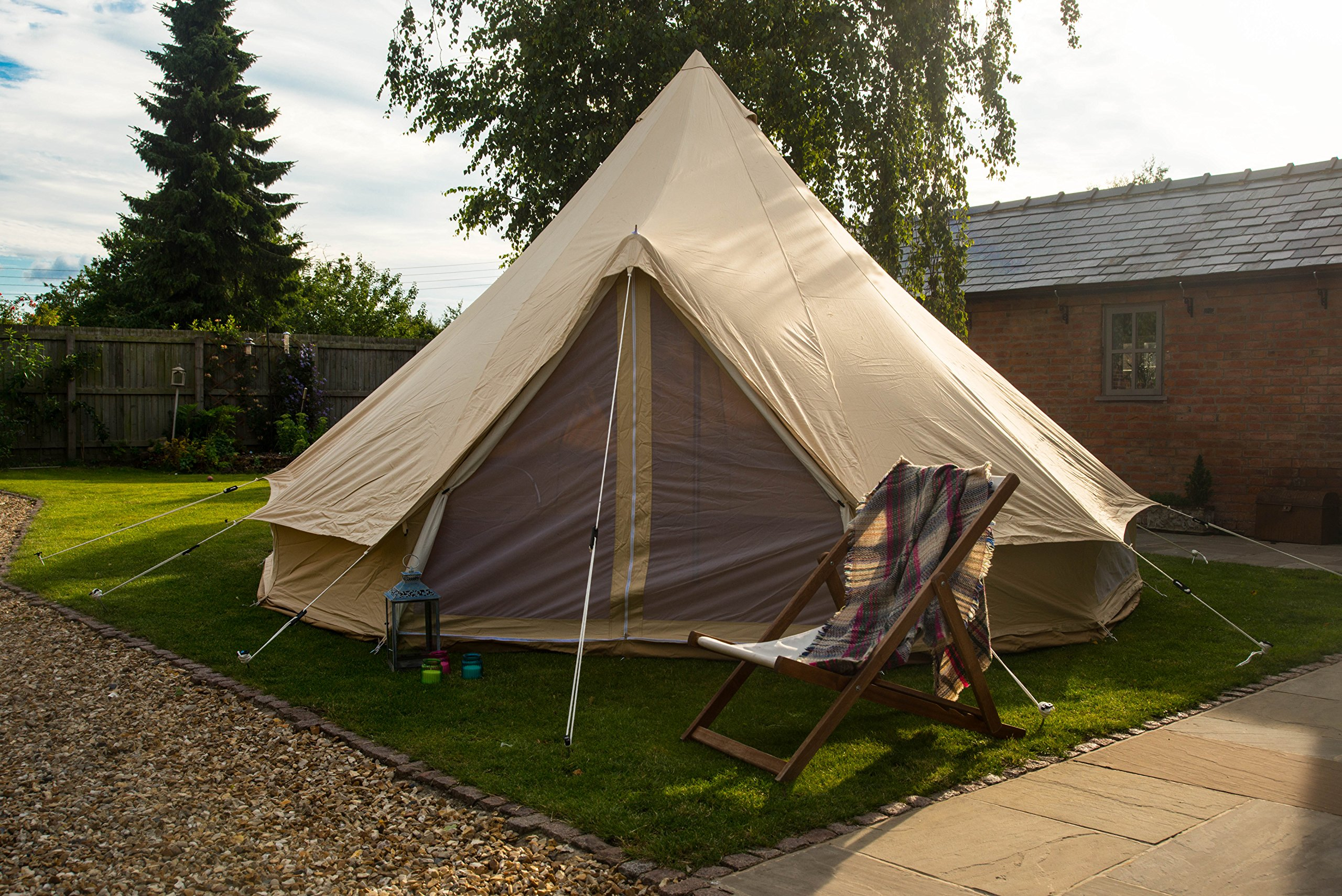 Bell Tent 5 metre with zipped in groundsheet by Bell Tent Boutique 4