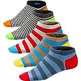 Ueither Calcetines Estampados Hombre Casuales Divertidos Calcetines Corto de Colores con Algodón Fino