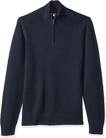 Amazon Brand - Goodthreads Men's Soft Cotton Long-Sleeve Quarter Zip Sweater