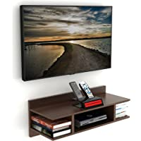 DECORVAIZ Coober Engineered Wood TV Entertainment Wall Mounted Shelf Racks Wooden tv cabinets for Home Living Room…