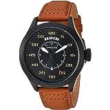 ساعة بمينا لون اسود وبسوار من الجلد للرجال من انفيكتا - 22974